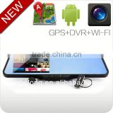 android 4.0 bluetooth GPS navigation car rearview mirror 2.0 inch lcd car black box