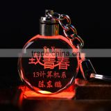 Mini Led Crystal Key Chain Wedding Souvenirs