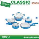 Fake Enamel Pressed aluminum Cookware Set