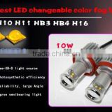 New design!Chameleon led fog light 10W H8/H10/H11/H16/9005/9006 auto fog lamp