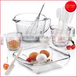 Hot Sale 9-PC Glass Bakeware Set Baking Dishes Measuring Cups Baking Pans