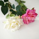 Long single stem artificial silk roses for wedding