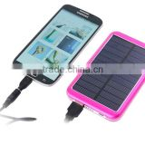 Portable universal solar charger, factory outlet price solar phone charger, green energy solar power bank