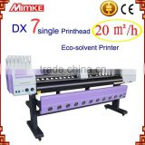 Best selling! Digital large format inkjet printer machine with 1.8 m width printing using 2 epson dx7 head