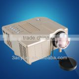 Portable Multimedia Mini LED Projector For Home Theater Computer Displayer Golden US Plug