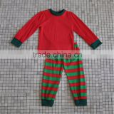 Wholesale 2016 long sleeve stripes pants baby girls cotton Christmas pajamas