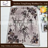 100% silk scarf with landscape painting for adult