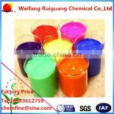 Fluorescent Pigment For Plastic, printing ink, paint, textile printing paste