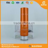 Oval Sun Cream Cosmetic Aluminum Tube With Acrylic Cap/ 70ml empty aluminium flat oval tube