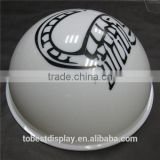 2016 new custom wholesale print acrylic hemisphere/acrylic half ball/hollow acrylic ball