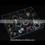 elegant custom wholesale acrylic tray with dividers,clear acrylic tray,square acrylic tray for jewelry manufacturer