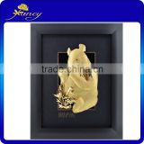 new design gold foil panda eat bamboo leaves frame home decor/constellation photo frame