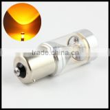 Amber yellow 30W Cr ee BAU15S BAZ15D BA15S BAY15D LED marker light 1156 1157 LED turn signal fog light lamps bulb
