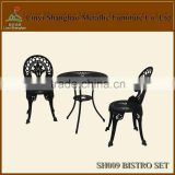 Hot sale! SH007 Bistro set cast aluminum outdoor furniture