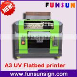 8 color A3/A4 size UV flatbed multifunctional printer with Led for Phone case CD ID card printing