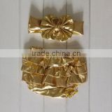fashion baby bloomers golden bloomers for birthday baby