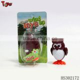 cheap wind up owl jumping baby animal toy