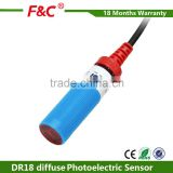M18 10-30v dc NPN diffuse photoelectric sensor with CE                                                                         Quality Choice