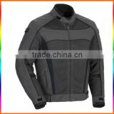 Motorcycle Leather Jacket with CE Approved Armors