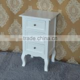 Wholesale Price Vanity Wooden Beside Table White 3 Drawer Bed Table Bedroom Furniture Sets