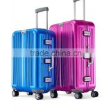 top quality Aluminium alloy hard cabin carry-on trolley luggage suitcase bag for business travel