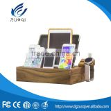 New design PE bag packing bamboo material fashion tablet charging station