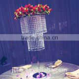 Round crystal flower stand surrounded with crystals for wedding decoraton& home &party wedding centerpiece