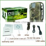Trail Hunting Camera Photo Trap MMS SMS GPRS 12MP HD Wildlife Vedio Game Cameras with Black IR LEDs 2016 spy camera
