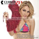 Factory Wholesale Handmade Elegant Burgundy Marabou Feather Hand Fan Costume Fun Act Burlesque Decor Dancing