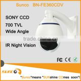 700TVL 360 degree panoramic CCTV dome camera , digital WDR, Vandal proof outdoor model, IP66