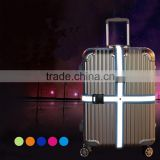 High quality customized size&color reflective luggage belt ,luggage straps with reflective straps