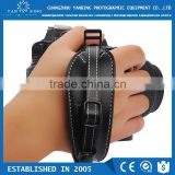 Factory supply cheapest leather hand digital wrist grip strap with quick release plate for DSLR camera