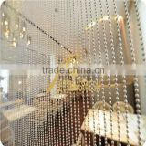 silver ball chain curtain for interior decoration