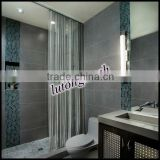 free sample cascade coil shower curtains for salon, massage, bar and hotel etc
