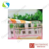 2016 Customizable China New Food grade New Design Color Print Drinking Disposable Paper Straws