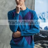 2014 new fashion men knitting pure cashmere round neck pullover