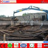 forest log trailer, timber log trailer with crane for Tractor, tractor wood trailer, timber trailer