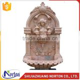 Hand carved marble wall fountain with goddess NTMF-WF001LI