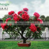 amazing artificial peony flower led bonsai,flower led lighted tree