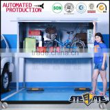 Parking lot car storage cabinet metal bike locker