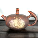 Nixing Pottery Tea Pot Handmade Everything Goes Well TeaPot Ceramic Tea Ware