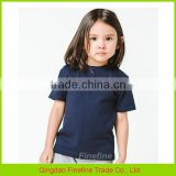 OEM Service Cotton knitted Plain Kids Tshirts