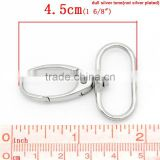 Hook Lobster Swivel Clasps Trigger Clips Snap For Key Ring Silver Tone 4.5x3.1cm,20PCs,Fashion