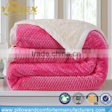 Wholesale premium quality soft fleece blanket warm 100% polyester berber sherpa bed blanket