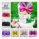 Lace Hair band with Sequin Bow Baby Headbands HeadWrap Turban Headband Girls Hair Accessories
