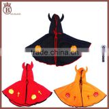 Simple Halloween Childrens Stage Show Costume Demon Shawl Horns Cloak