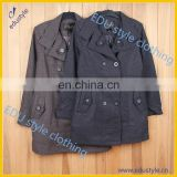 Custom Printing 80% Wool 20% Polyester Women Ladies Overcoat Designs