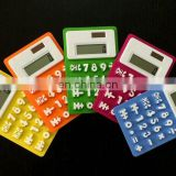 Factory direct supply 8 Digits Refrigerator Magnetic Silicone Foldable Calculator