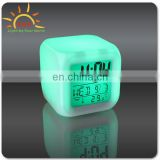 (Super Hot Selling ) 2015 New Design LED Digital Clock, Frozen Clock for Kids, 7 Colors Changing Alarm Clock