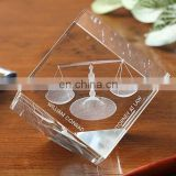 Wedding Favors Crystal 3D Laser Etched Paperweight